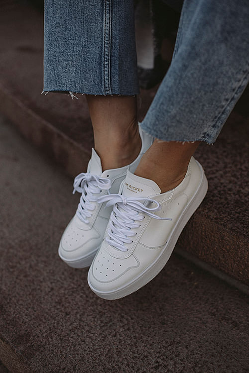 Jim Rickey Wing Sneakers White Mono sko