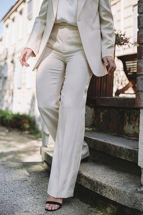 Joseph Ferry Fluid Tuxedo Pants Sand dressbukse