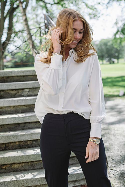 Joseph Klein Silk Toile Blouse Cream bluse skjorte