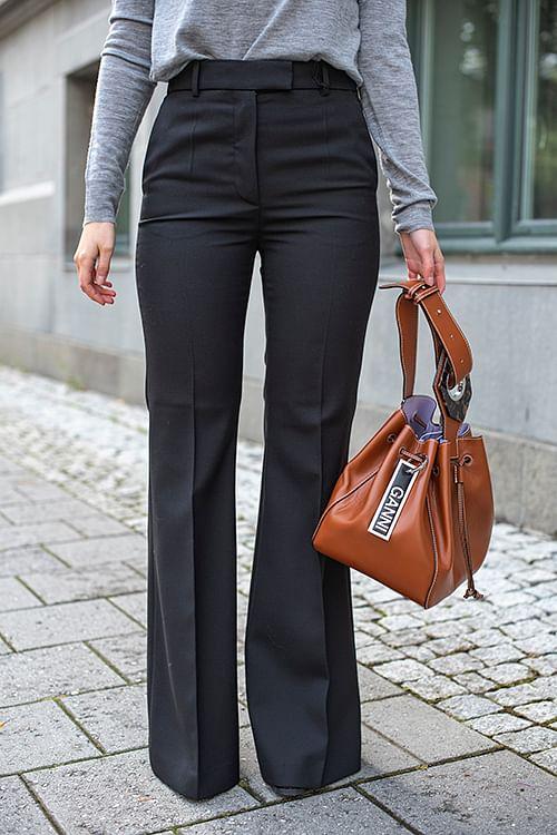 Joseph Valmy-Wool Granite Pants Black dressbukse