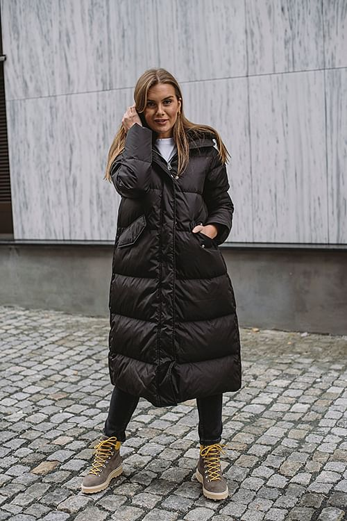 Lempelius Long Down Parka Black dunjakke