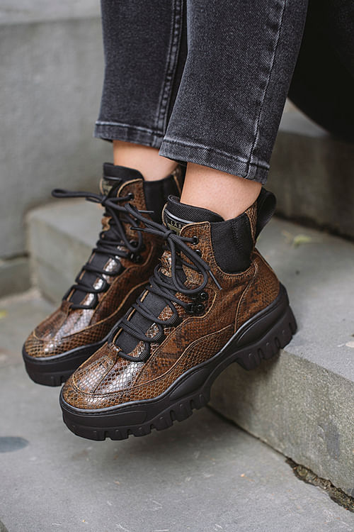 LÄST Stomp Boots Olive sko