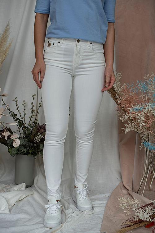 Lois Celia Megalia Blush White jeans