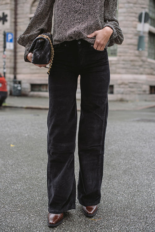 Lois Palazzo Brightcord Soul Black bukse