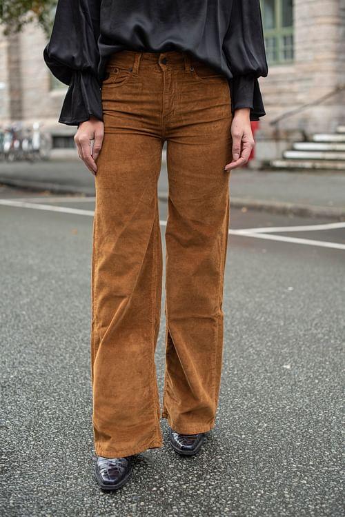 Lois Palazzo Brightcord Soul Bitter Choco bukse
