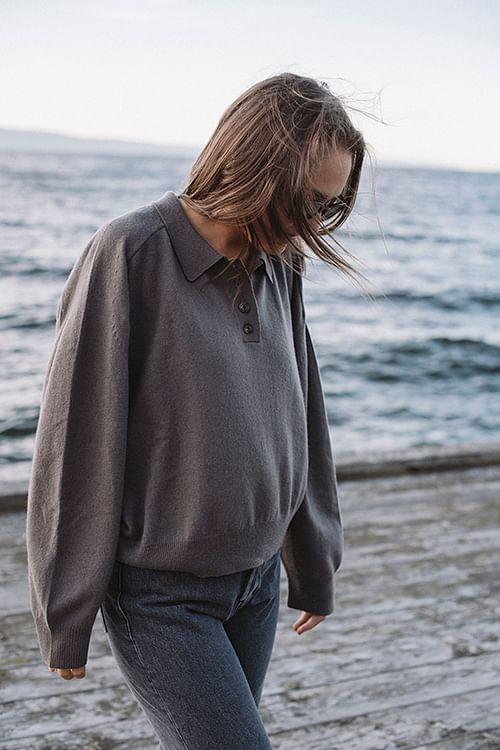 Loulou Studio Forana Shirt Taupe genser