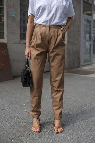 Palaos Leather Pants Caramel