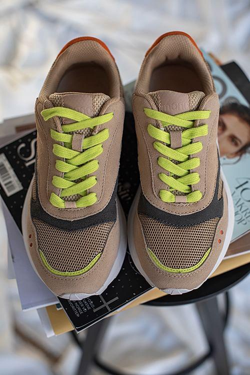 Mono Flow Sneakers Cream sko