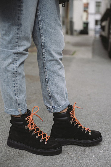 Hiking Suede Boots Black