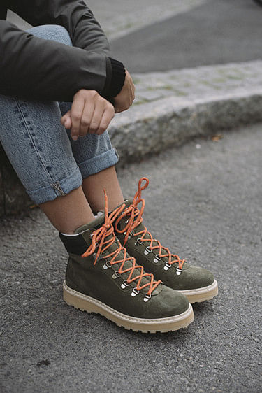 Hiking Suede Boots Military