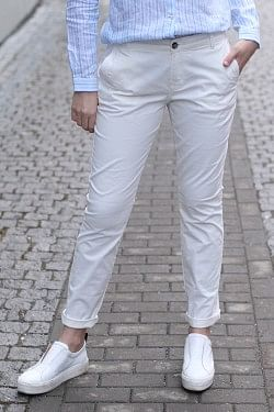 Morris Lady Chinos Off White