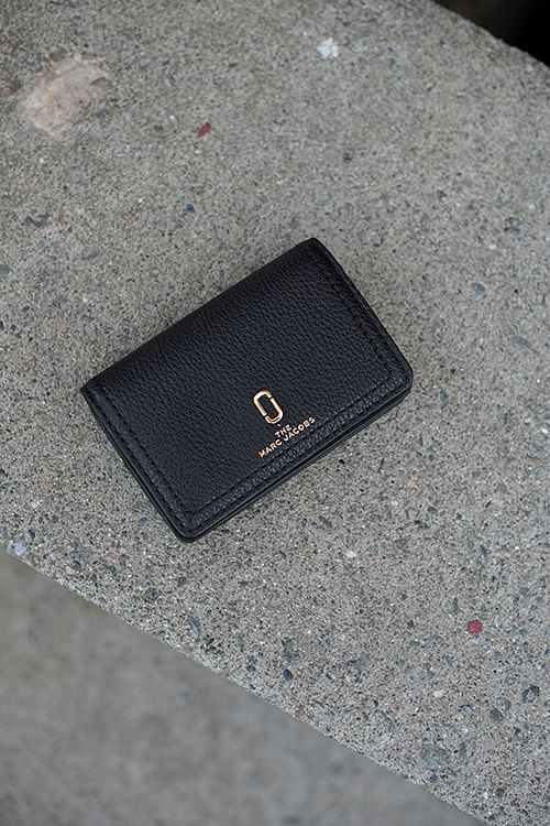 Marc Jacobs Business Card Case Black sort