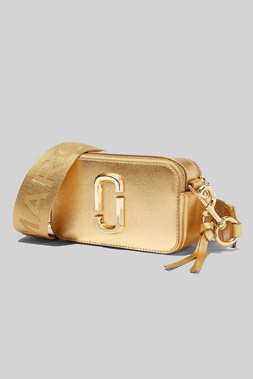 Marc Jacobs The Snapshot DTM Metallic Gold veske