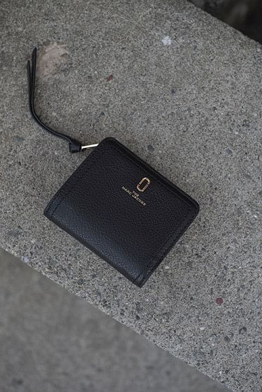 Mini Compact Wallet Black