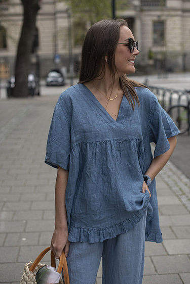 Ida Blouse Denim Blue