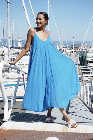 Manuela Dress Bright Blue