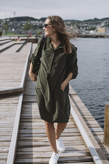 Matilde Cord Dress Military