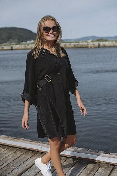 Matilde Cord Dress Black