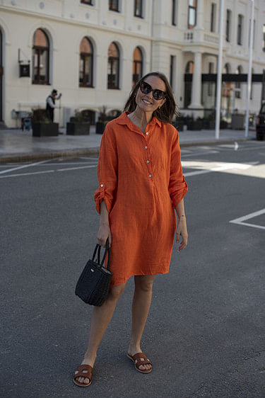 Matilde Dress Orange