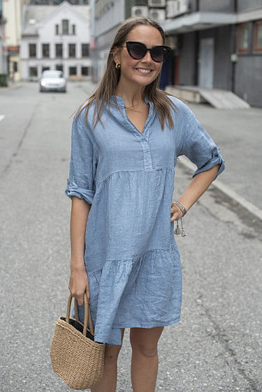Millie Dress Denim Blue