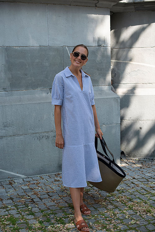 NORR Gabriella Dress Blue kjole