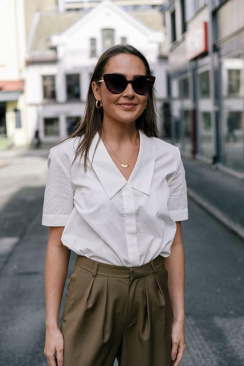 Norr Lillian Shirt White Skjorte T-skjorte