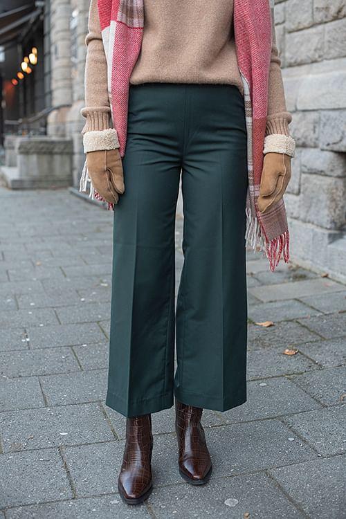 NORR Logan Pants Dark Green dressbukse