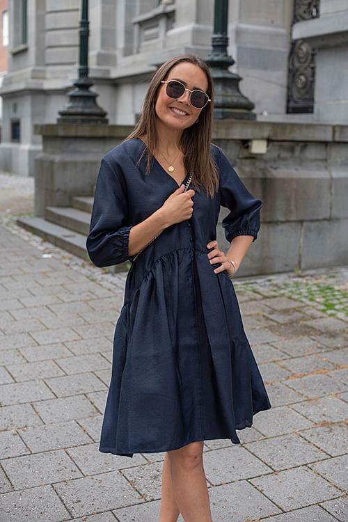 NORR Simone Dress Navy kjole