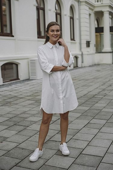 Emily Shirt Dress White