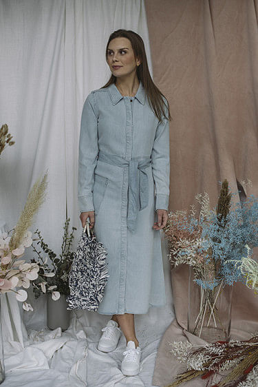 Gramy Dress Light Blue