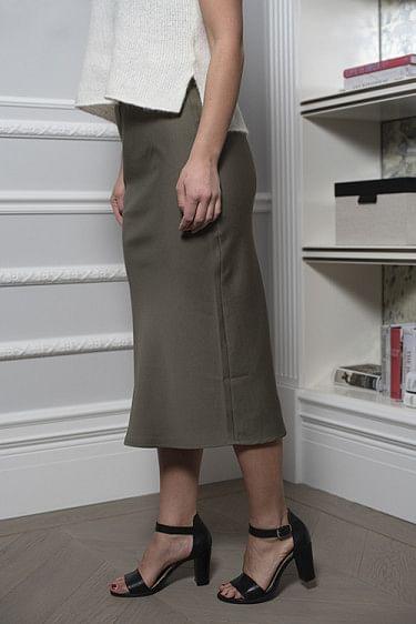 Lulu Solid Skirt Olive