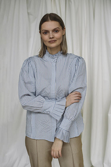 Madera Shirt Light Blue Stripe