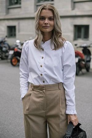 Olive Shirt White