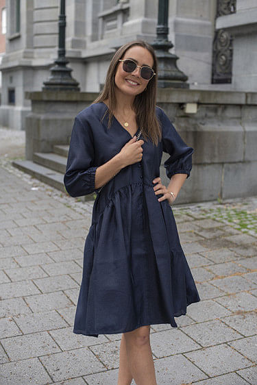 Simone Dress Navy