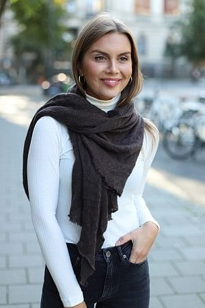 Luxury Medium Scarf Brown