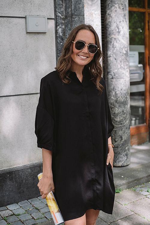 One&Other Fie Dress Black skjortekjole