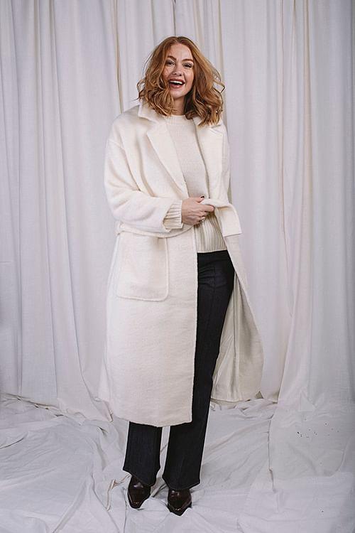 Mia Wool Coat Off White