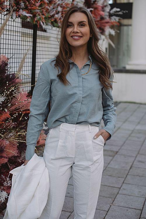 Thelma Shirt Pale Blue