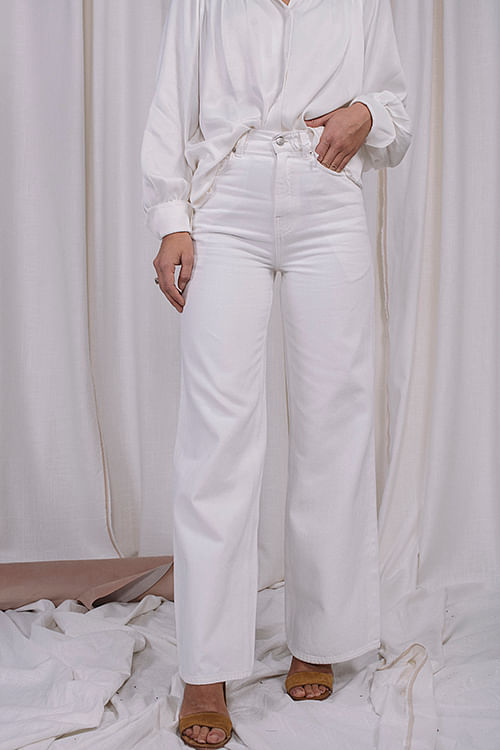 One&Other Wide Leg Jean Off White jeans