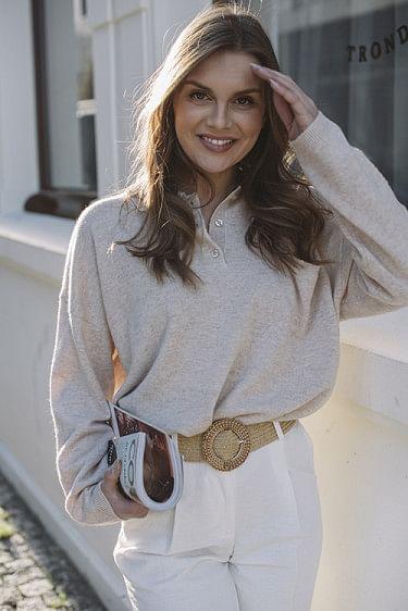 Cara Sweater Oatmeal Melange