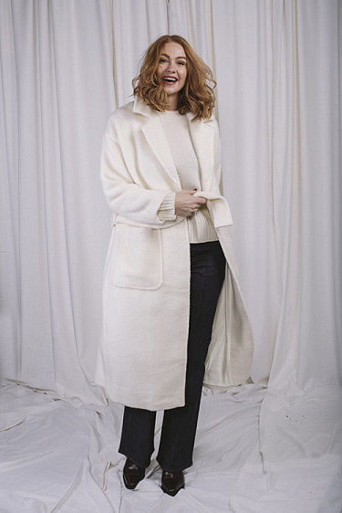 Mia Wool Coat Off White