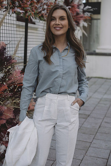 Thelma Shirt Pale Blue