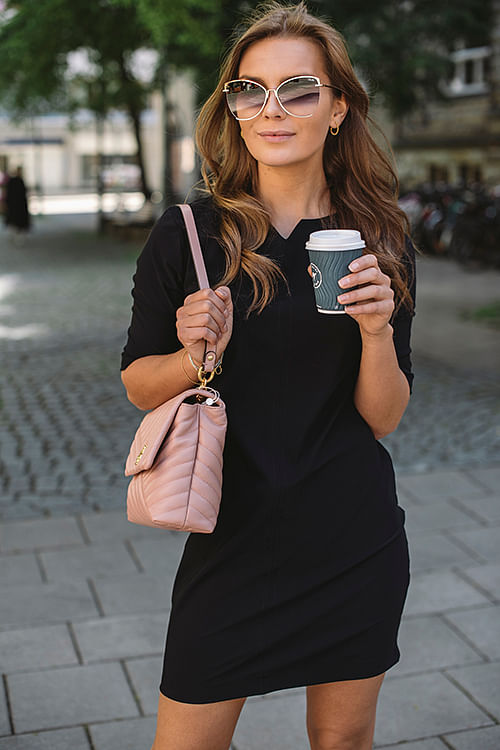 Oroblu Travel Mini Dress Black kjole