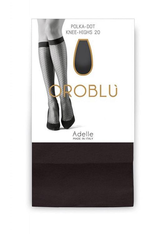 Oroblu Polka-Dot Knee-Highs Marine knestrømper