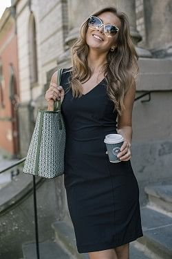 Travel Dress Sleeveless Black