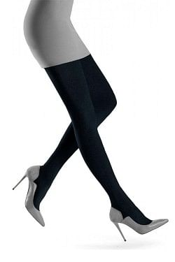 Brittany Wool Tights Black Melange