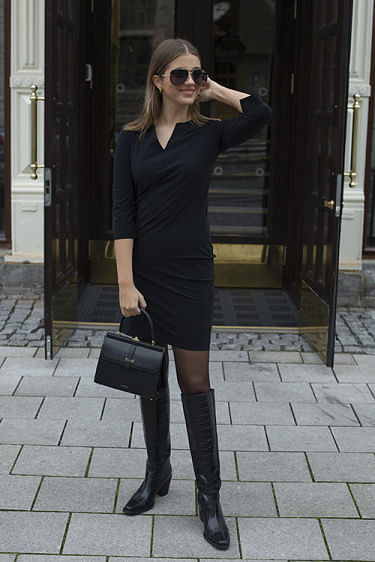 Travel Glam Mini Dress Black