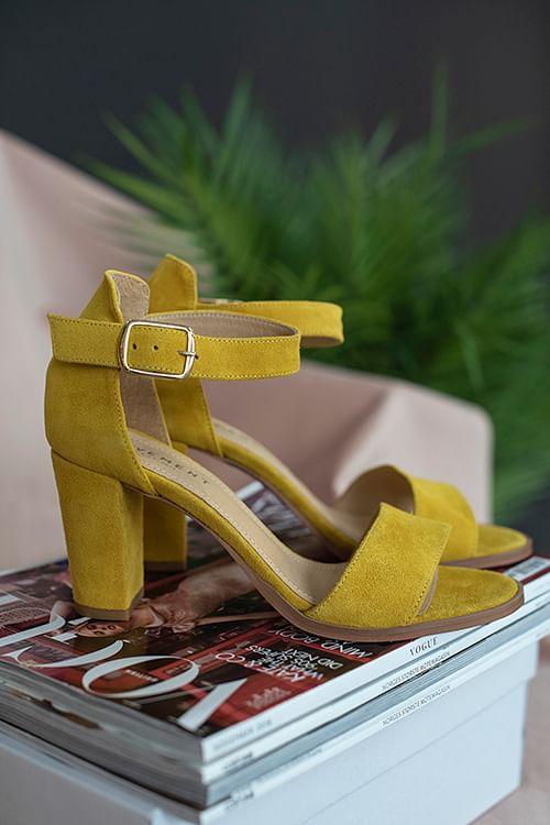 Pavement Silke Sandals Yellow Suede sandaler
