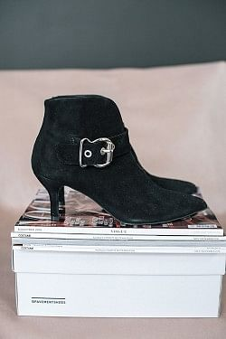 Penelope Boots Black Suede