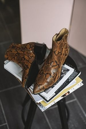 Sonia Boots Brown Snake
